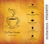 restaurant or coffee house menu ... | Shutterstock .eps vector #490658959