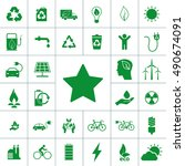 ecology icon set | Shutterstock .eps vector #490674091