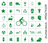 ecology icon set | Shutterstock .eps vector #490674109