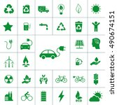 ecology icon set | Shutterstock .eps vector #490674151