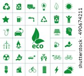 ecology icon set | Shutterstock .eps vector #490674211