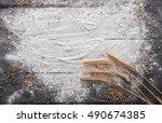 baking class or recipe concept... | Shutterstock . vector #490674385