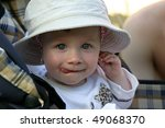 cute 11 months old baby girl... | Shutterstock . vector #49068370