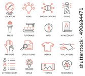 vector set of 16 icons related... | Shutterstock .eps vector #490684471