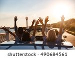 back view of happy young... | Shutterstock . vector #490684561