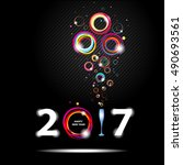 new year 2017 in black... | Shutterstock .eps vector #490693561