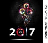 new year 2017 in black...   Shutterstock .eps vector #490693561