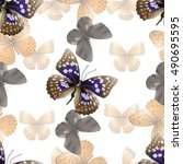 seamless pattern from... | Shutterstock .eps vector #490695595