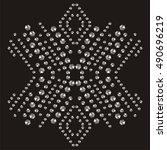 snowflake rhinestone applique...   Shutterstock .eps vector #490696219