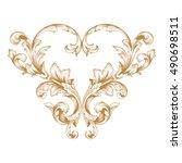 gold vintage baroque element...   Shutterstock .eps vector #490698511