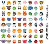 Set Of Cute Animals Isolated O...
