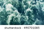 powerful waves pulled out from... | Shutterstock . vector #490701085