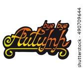 inscription multi colored... | Shutterstock .eps vector #490709644