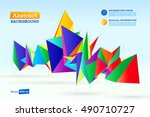 abstract background. polygonal... | Shutterstock .eps vector #490710727