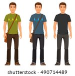 young man in casual fashion | Shutterstock .eps vector #490714489
