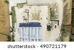 overhead view of construction...   Shutterstock . vector #490721179