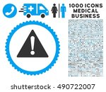 warning icon with 1000 medical...