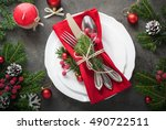 Christmas Table Setting With...