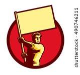 vintage soviet socialist... | Shutterstock .eps vector #490746211