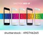 smartphone collection mock ups... | Shutterstock .eps vector #490746265