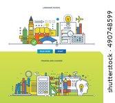 concept of language schools ... | Shutterstock .eps vector #490748599
