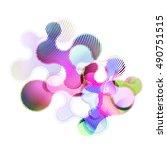 abstract vector background dot...   Shutterstock .eps vector #490751515