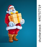 christmas santa claus man with...   Shutterstock .eps vector #490757719