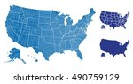 united states of america map | Shutterstock .eps vector #490759129