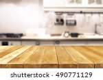 kitchen background and free... | Shutterstock . vector #490771129