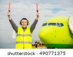 air traffic controller | Shutterstock . vector #490771375