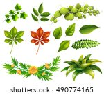 different kinds of leaves... | Shutterstock .eps vector #490774165
