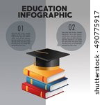 education and learning... | Shutterstock .eps vector #490775917