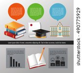 education and learning... | Shutterstock .eps vector #490775929