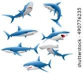 cute shark cartoon collection