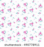 cute floral pattern of small... | Shutterstock .eps vector #490778911