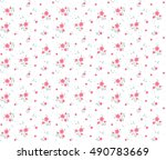 cute floral pattern in the... | Shutterstock .eps vector #490783669
