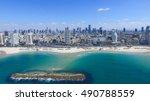 Tel Aviv Skyline   Aerial Photo