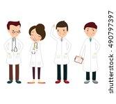 set of medics vector... | Shutterstock .eps vector #490797397