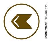 arrow  icon vector. flat...   Shutterstock .eps vector #490801744