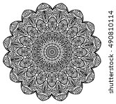 beautiful mandala | Shutterstock .eps vector #490810114