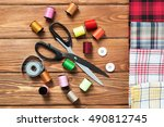 items for sewing or diy | Shutterstock . vector #490812745