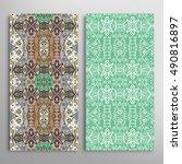vertical seamless patterns set  ...   Shutterstock .eps vector #490816897
