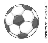 soccer ball icon in cartoon... | Shutterstock . vector #490840087
