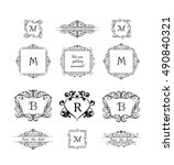 collection of decorative frames ... | Shutterstock .eps vector #490840321