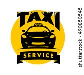 vector flat taxi logo isolated...   Shutterstock .eps vector #490850545