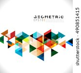 colorful geometric modern... | Shutterstock .eps vector #490851415