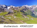 Grossglockner Hochalpenstrasse - Scenic Alpine Road in Austria - stock photo