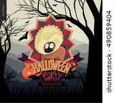 halloween party invitation.... | Shutterstock .eps vector #490859404
