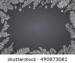 christmas poster   illustration.... | Shutterstock .eps vector #490873081