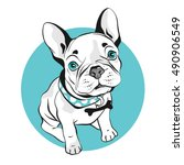 french bulldog  on white... | Shutterstock .eps vector #490906549